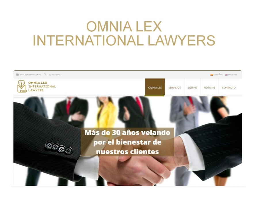 DISEÑO Y PROGRAMACIÓN  WEB OMNIA LEX INTERNATIONAL LAWYERS